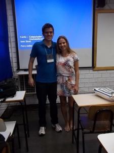 Vitor e Isadora após apresentação no EAIC